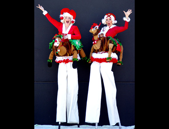 Stilt Walkers - Reindeer Riders
