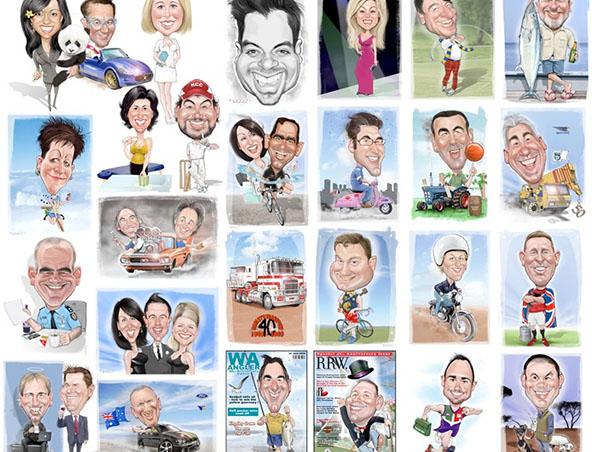 Perth Caricaturist - Terry Dunnett - Caricatures - Cartoonist