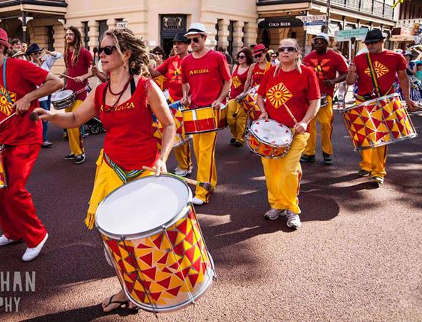Brazilian Samba Drummers and Dancers Perth