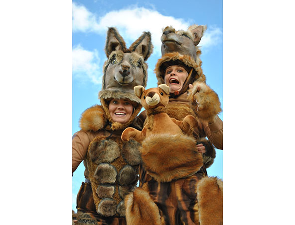 Perth Stilt Walkers - Kangaroos on Bouncy Stilts