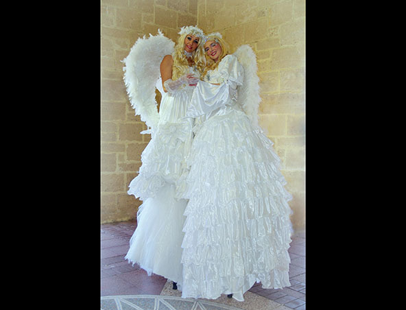 Perth Stilt Walkers Feathered Angels