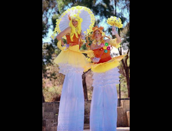 Spring Costume Stilt Walkers Perth