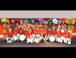 Brazilian Samba Drummers And Dancers