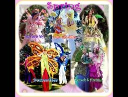 Spring Costume Stilt Walkers